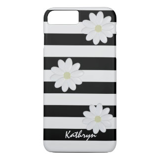 White Flowers Striped iPhone 7 Plus iPhone 7 Plus Case