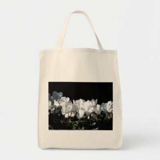 White Flowers Tote Bags