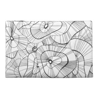 White flowers travel accessory bag