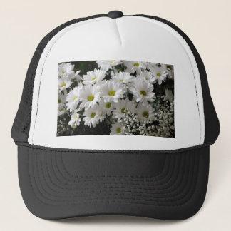 White Flowers Trucker Hat