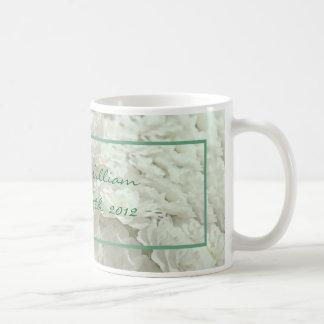 White Flowers Wedding Keepsake Mug