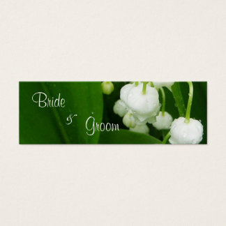 White Flowers Wedding Thank You Card Tag