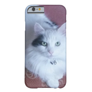 White fluffy cat pretty cute girly barely there iPhone 6 case