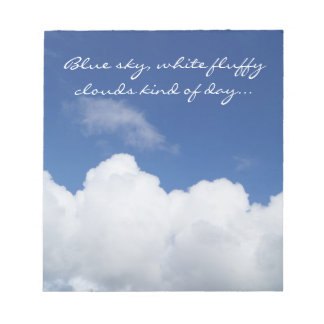 White fluffy cloud notes