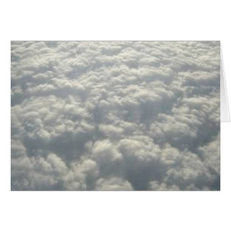 WHITE FLUFFY CLOUDS CARD