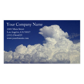 White Fluffy Clouds Cloud Formation Blue Sky Pack Of Standard Business Cards