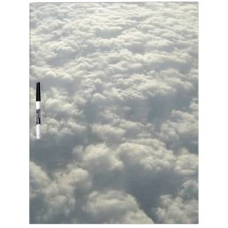 WHITE FLUFFY CLOUDS Dry-Erase BOARD