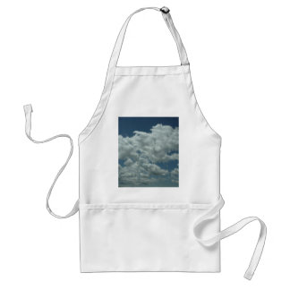 White fluffy clouds in blue sky aprons