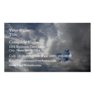 White fluffy clouds on the blue sky business cards