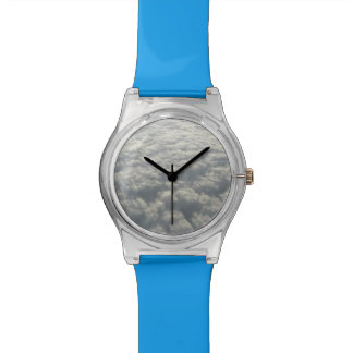 WHITE FLUFFY CLOUDS WRISTWATCHES