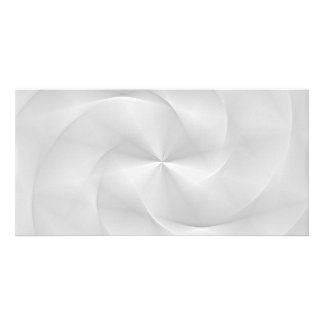 white folded swirl card