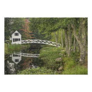 White footbridge Somesville Mount Desert Art Photo