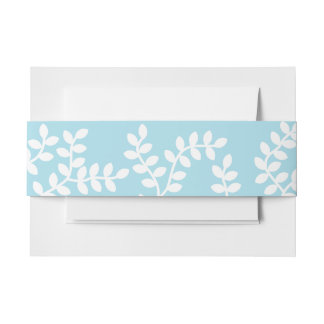 White Forest Invitation Belly Band