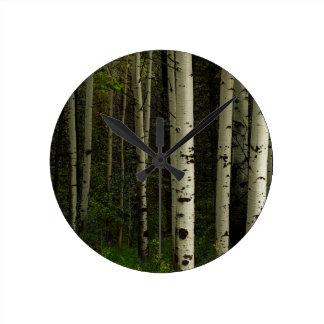 White Forest Round Clock