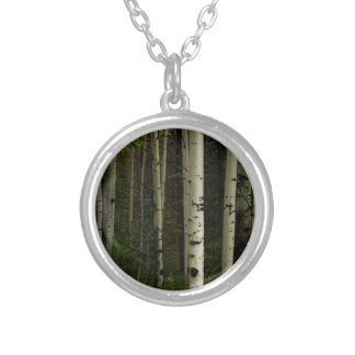 White Forest Silver Plated Necklace