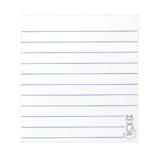 White Fox Notepad