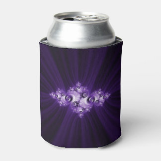 White fractal on purple background. can cooler
