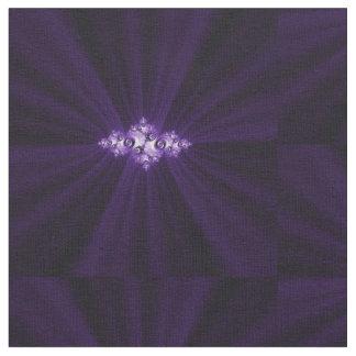 White fractal on purple background fabric
