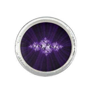 White fractal on purple background ring