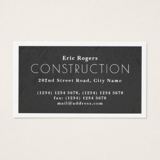 White frame faux concrete look business card