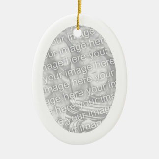 White Frame Oval Ornament