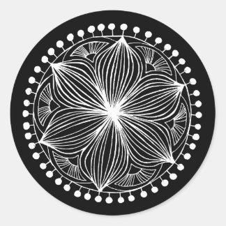 White Frankie Mandala Sticker