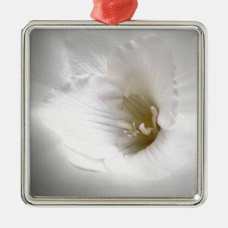 white freesia metal ornament