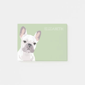 White French Bulldog | Cute Frenchie Post-it Notes