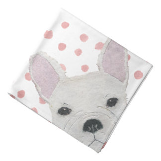 White French Bulldog, Frenchie Bandana