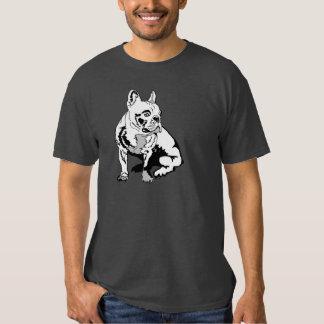 White french bulldog tee shirt