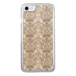 White Frost Ghost Shadow Blur Damask Illusion Carved iPhone 7 Case