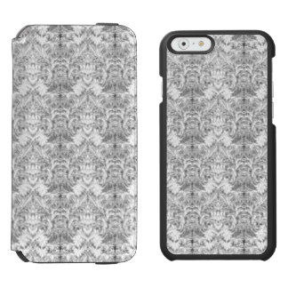 White Frost Ghost Shadow Blur Damask Illusion Incipio Watson™ iPhone 6 Wallet Case