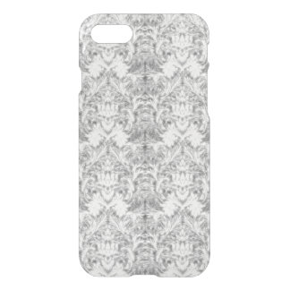 White Frost Ghost Shadow Blur Damask Illusion iPhone 7 Case