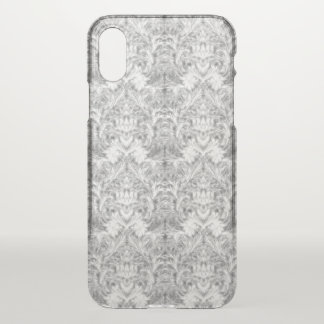 White Frost Ghost Shadow Blur Damask Illusion iPhone X Case