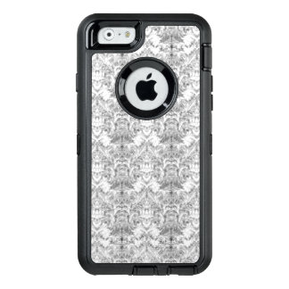 White Frost Ghost Shadow Blur Damask Illusion OtterBox Defender iPhone Case