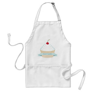 White Frosted Cupcake Apron