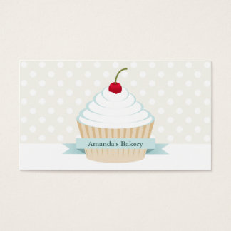White Frosted Cupcake Business Cards