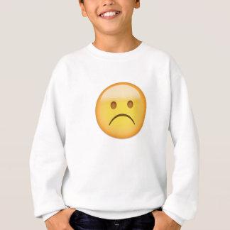 White Frowning Face Emoji Sweatshirt