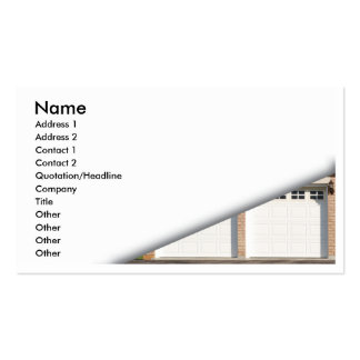 white-garage-doors pack of standard business cards