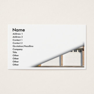 white-garage-doors business card