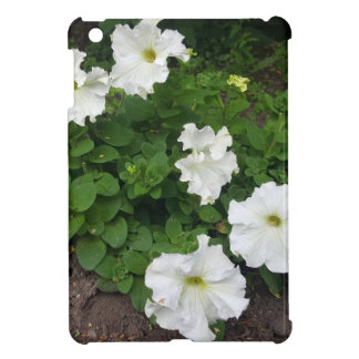 White garden flowers photograph iPad mini case