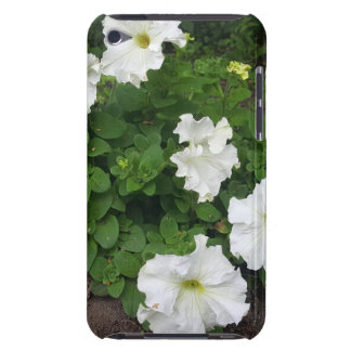 White garden flowers photograph iPod touch case