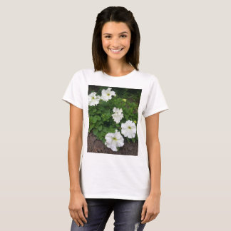 White garden flowers photograph T-Shirt