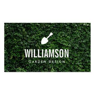 White Garden Shovel Green Leaves Gardening Pack Of Standard Business Cards