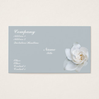 White Gardenia blossom Business Card