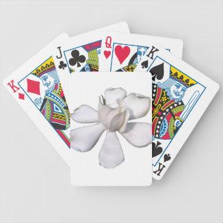 White Gardenia Bud 201711g Bicycle Playing Cards