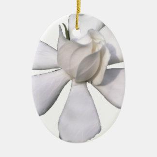 White Gardenia Bud 201711g Ceramic Ornament