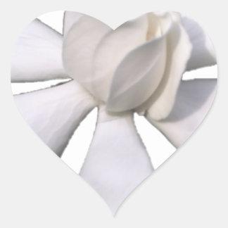 White Gardenia Bud 201711g Heart Sticker
