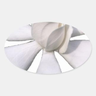 White Gardenia Bud 201711g Oval Sticker