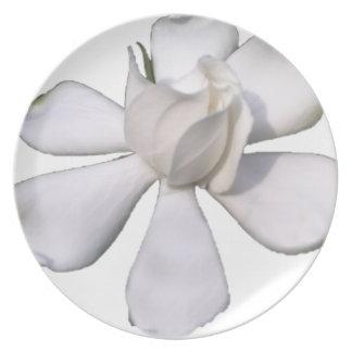 White Gardenia Bud 201711g Plate
